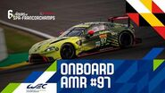Total 6 hours of Spa-Francorchamps - Onboard Aston Martin Racing 97
