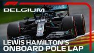 Lewis Hamilton's Pole Lap 2020 Belgian Grand Prix Pirelli