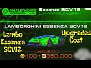 Lamborghini Essenza SCV12 Championship - Real Racing 3 - Upgrades Cost And Info