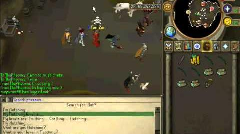 Getting 99 fletching in runescape. 2011