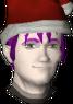 Drakie usando um Chapéu de Papai Noel