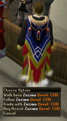 Zezima wearing completionist cape.png