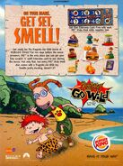 Rugrats Go Wild Burger King Odorama card print ad NickMag June July 2003
