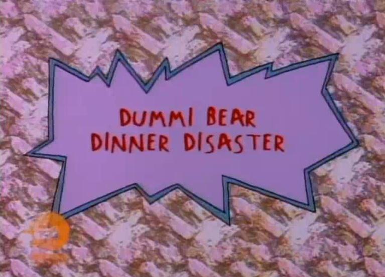 Dummi Bear Dinner Disaster