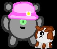 Fashionista and doggo