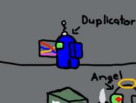 Duplicator and Angel in Among Us