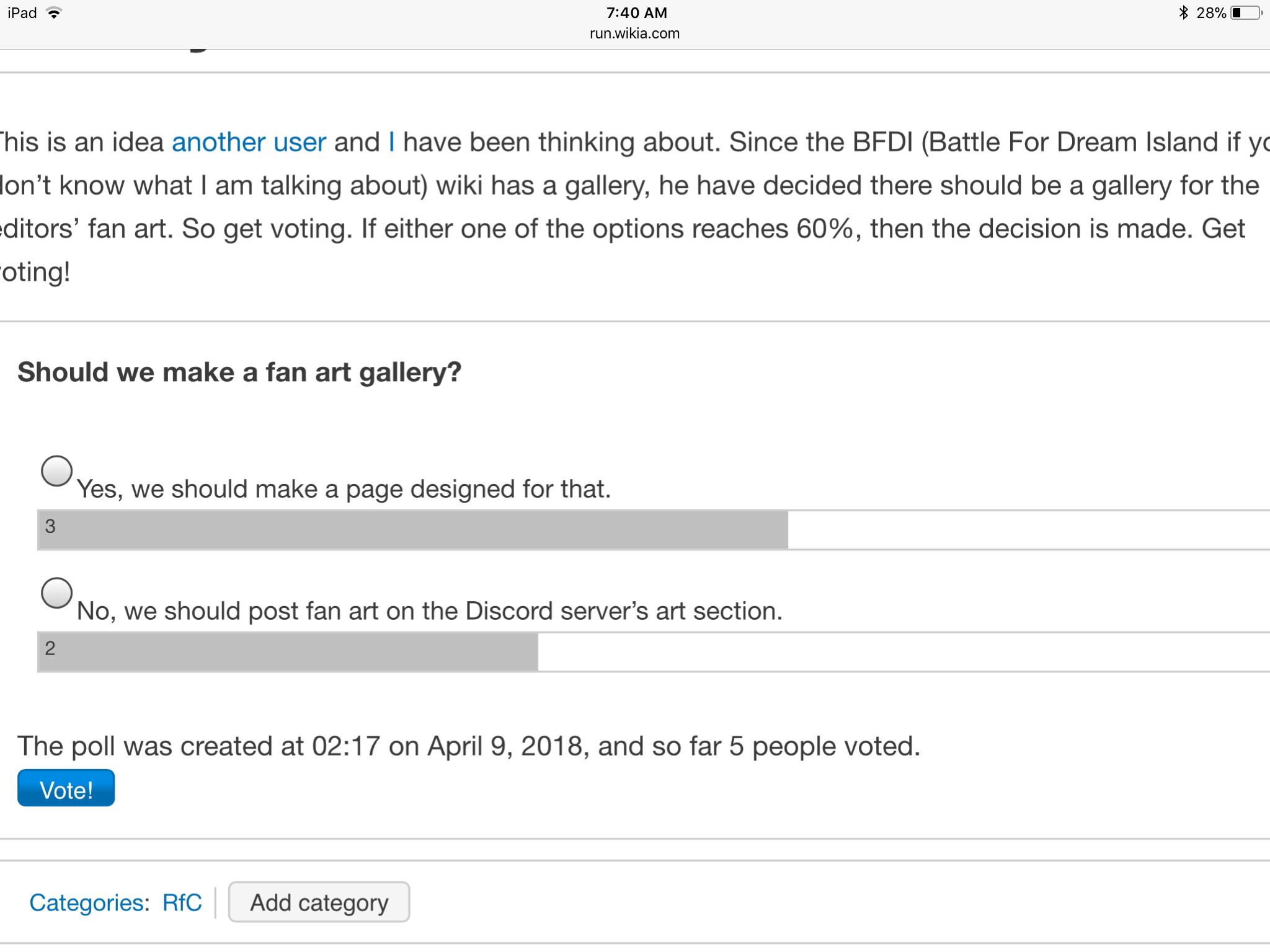 (RfC) Should we make a fan art gallery? (CLOSED)