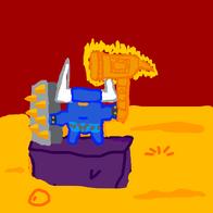 Minotaur Warrior in Hell