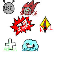 Among us run 3 version Button Icons 1