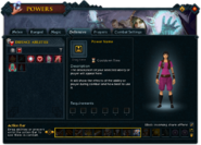 Powers (Defensive) interface