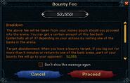 Crucible bounty fee interface