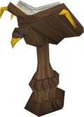 Mahogany eagle lectern built.png