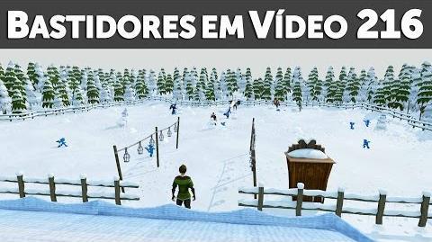 Bastidores em Vídeo Natal no RuneScape