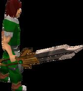 Dwarven longsword equipped