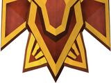 Dragon square shield (or)
