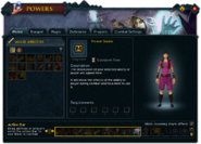 Powers (Melee) interface