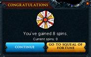 Redeemed a bond for Spins