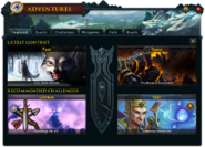 Adventures (Featured) interface