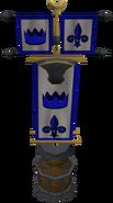 Clan vexillum in stand