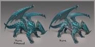 Rune dragon concept art