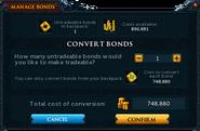Manage Bonds (Conversion)