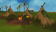 Marimbo's fire and tents