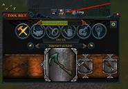 Tool belt button
