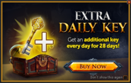 Extra daily key popup