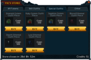Vic's Store (2015) Special Outfits Tab
