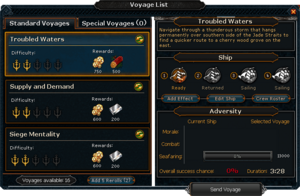 Voyage List interface.png