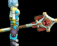 Banner of Zamorak (tier 3) equipped