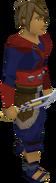 Seaborne dagger equipped