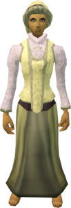 Audience costume (female, yellow) equipped.png
