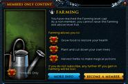 Farming popup