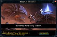 Recruit a Friend popup