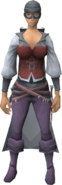 Swashbuckler outfit equipped (female)