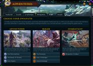 Adventures (Path) interface
