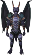 King Black Dragon outfit equipped