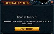 Redeemed a bond for Treasure Map Key