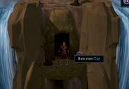 Wasserfall-Abenteuer Höhle betreten