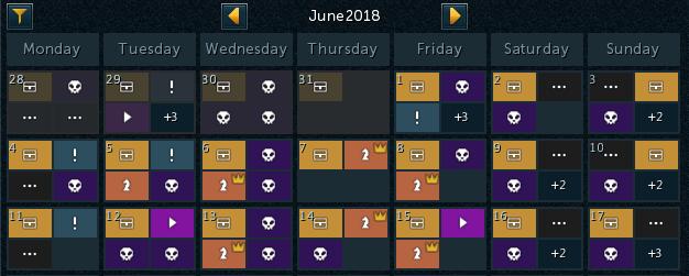 Calendário no Jogo - Semana de Ajustes
