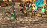 Fighting off the mercenaries