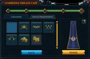 Herald cape crest selection