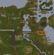 Wasserfall-Abenteuer Hadley Karte