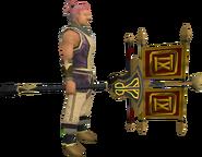 Clan vexillum (trophy) equipped