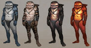 Shark outfits concept art