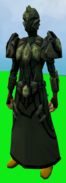 Tectonic armour (barrows) equipped