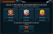 Redeeming a bond for 2014 gold membership