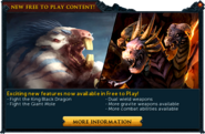 New Free-to-play content popup