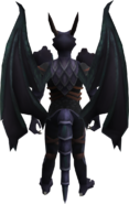 King Black Dragon wings equipped